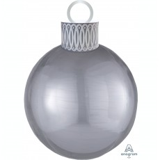 Christmas Party Decorations - Shaped Balloon Orbz & Ornament Kit Silver