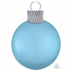 Christmas Party Decorations - Shaped Balloon Orbz & Ornament Blue