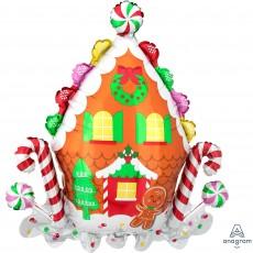 Christmas SuperShape XL Gingerbread House Shaped Balloons 71cm x 76cm