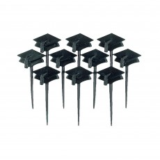 Black Graduation Cap Party Picks 6cm Pack of 10