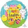 Round Standard HX Big Egg Happy Easter Foil Balloon 45cm