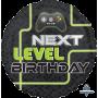 Round Happy Birthday Standard HX Next Level Birthday Foil Balloon 45cm