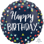 Round Happy Birthday Reason to Celebrate Standard HX Foil Balloon 45cm