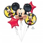 Bouquet Mickey Mouse Forever Foil Balloons Pack of 5