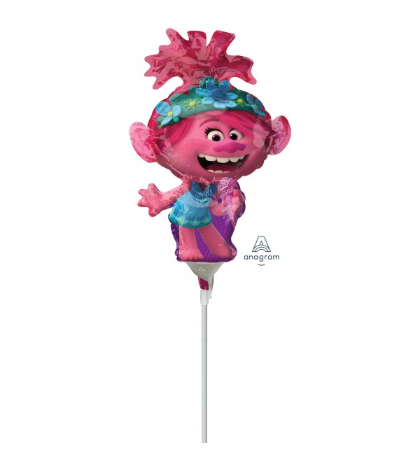 Trolls World Tour Poppy Mini Shaped Balloon