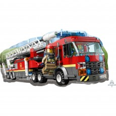 SuperShape Lego City Fire Truck Shaped Balloon 73cm x 38cm