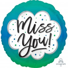 Round Misc Occasion Standard HX Miss You! Foil Balloon 45cm