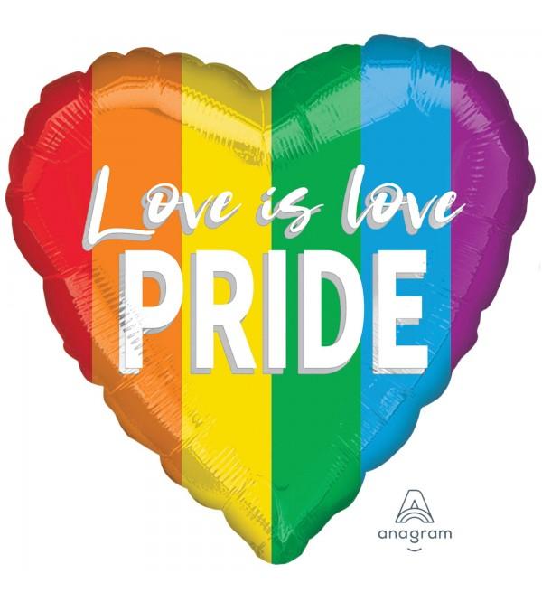 Heart Standard Love is Love Pride Shaped Balloon 45cm