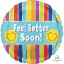 Get Well Party Decorations - Foil Balloon Stripes Feel Better Soon!