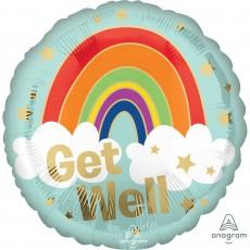 Get Well Party Decorations - Foil Balloon Standard HX Golden Rainbow