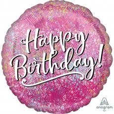 Pink Fabulous Happy Birthday Standard HX Foil Balloon 45cm