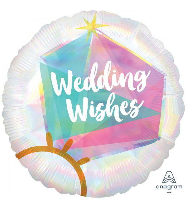 Standard HX Wedding Ring Wedding Wishes Foil Balloon 45cm