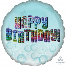 Happy Birthday Party Decorations - Foil Balloon Standard HX Sequins