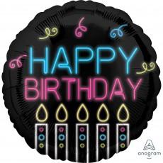 Happy Birthday Party Decorations - Foil Balloon Standard HX Neon