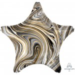 Star Black Standard XL Marblez Shaped Balloon