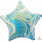 Star Blue Standard XL Marblez Shaped Balloon