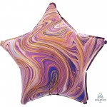 Star Marblez Purple Standard XL Shaped Balloon 45cm