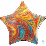Star Multi Coloured Standard XL Marblez Shaped Balloon