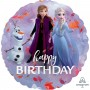 Round Disney Frozen 2 Standard HX Happy Birthday Foil Balloon 45cm