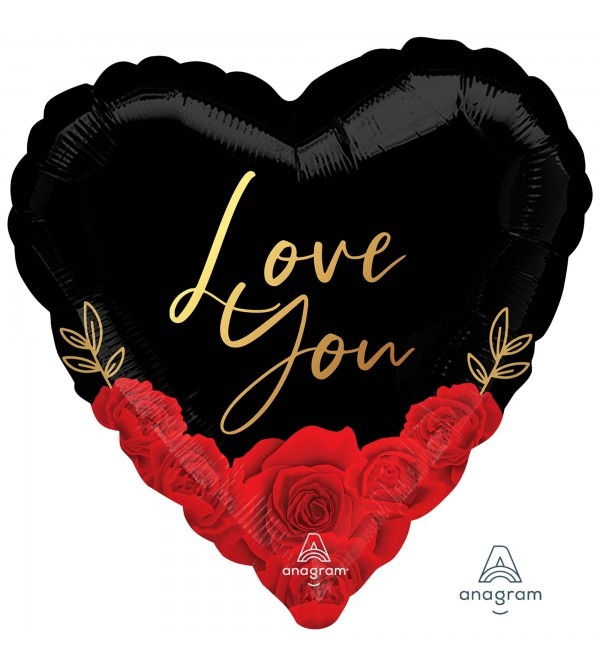 Love Party Decorations - Shaped Balloon HX Romantic Roses Love You