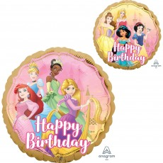 Round Disney Princess Once Upon A Time Happy Birthday Foil Balloon 45cm
