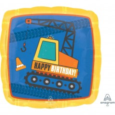 Under Construction Party Decorations - Shaped Balloon Square