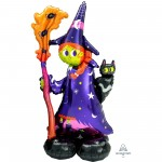 Halloween CI: AirLoonz Scary Witch & Cat Shaped Balloon 60cm x 139cm