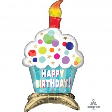 Happy Birthday Party Decorations - Shaped Balloon CI: Decor Cupcake