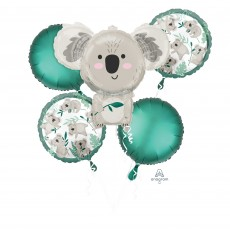 Happy Birthday Party Decorations - Foil Balloons Bouquet Koala