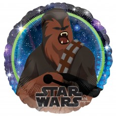 Star Wars Party Decorations - Foil Balloon Galaxy Chewbacca Standard HX