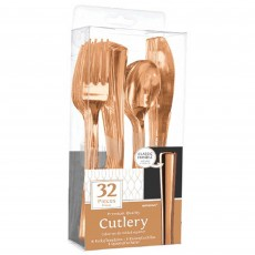 Rose Gold Premium Cutlery Sets Pack of 32