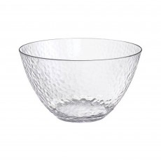 Clear Party Supplies - Bowl Premium Hammered Look Large