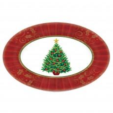 Oval Twinkling Christmas Tree Melamine Platter 46.3cm