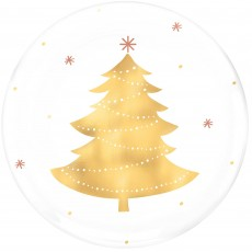 Christmas Party Supplies - Lunch Plates Christmas Tree