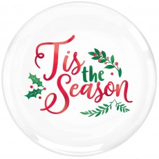 Round Christmas Tis The Season Banquet Plates 26cm Pack of 10