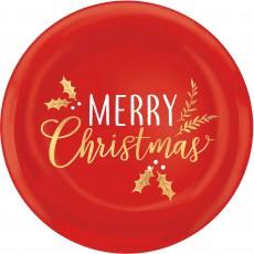 Round Merry Christmas Platter 35.6cm