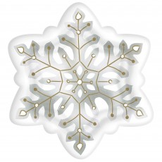 Christmas Party Supplies - Dinner Plates Snowflake Shaped Foil