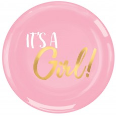 Baby Shower - General Plastic It's a Girl! Lunch Plates 19cm Pack of 20