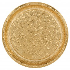 Gold Party Supplies - Tray Premium Hammered Look