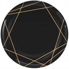 Stripes Party Supplies - Lunch Plates Premium Geo