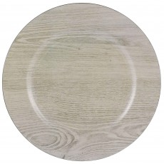 Brown Party Supplies - Banquet Plate Premium Charger Printed Wood Grain