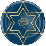 Hanukkah Party Supplies - Lunch Plates Plastic