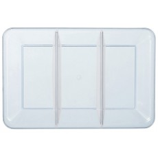 Clear Compartment Plastic Tray 24cm x 35.5cm