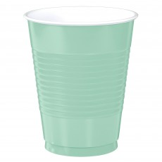 Cool Mint Green Big Party Plastic Cups 473ml Pack of 50