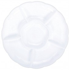 Round White Compartment Chip & Dip Tray 40.6cm