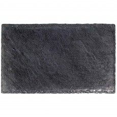 Grey Party Supplies - Tray Premium Slate Look