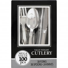 Silver Value Cutlery Sets Pack of 100