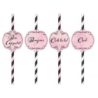 Day in Paris Straws 23cm Pack of 12