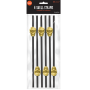 Black Halloween with Gold Skull Straws Pack of 6
