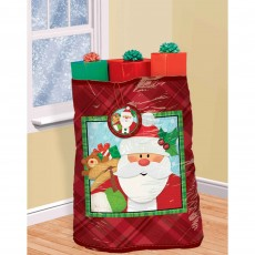 Christmas Party Supplies - Crafty Christmas Santa Super Giant Gift Sack